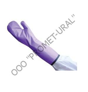 рукавицы рентгенозащитные фиолетовые